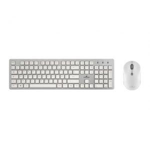 Bluestork teclado + ratón inalámbrico blanco