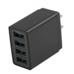 Cargador USB de Pared Inteligente con 4 Puertos, 5,1A Quick Charge Caga Rapida, Cargador USB Multipuerto Enchufe Europeo para Phone X/XS/XS Max/XR, iPad Pro/ Air, Android y más