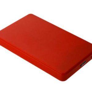 Carcasa Disco Duro Externa 2,5″ USB 3.0 Rojo