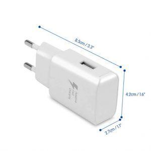 Cargador Carga Rápida USB de 5V 2.1A. iPhone X7, iPad, Samsung S9, Xiaomi Mi 8