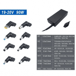 Cargador Universal Slim para Portatiles 19-20V 90W Automático